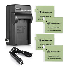 NB-6LH NB-6L Battery + CHARGER for Canon Powershot D10 S95 SD1300 SX510 HS SX520