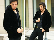 New trend man Imitated mink fur Super soft Hoodie coat outerwear