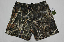 NEW MENS REALTREE ADVANTAGE MAX-4 HD CAMOUFLAGE SWIM SHORTS WITH MESH LINER XXL