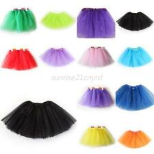 Toddler Baby Girl Kids 3 Layer Tutu Party Ballet Dance Wear Dress Skirt Costumes