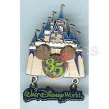 Disney Pin - WDW - 35th Anniversary Castle with Dangle