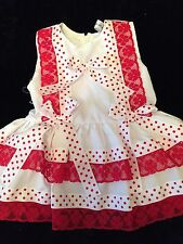 DREAM GIRLS ROMANY SPANISH RED SPOT LINED NETTED   DRESS ALL SIZES AVAILABLE