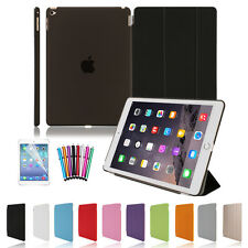PU Leather Smart Stand Cover Hard Back Case for Apple iPad 4 3 2 Mini Air New
