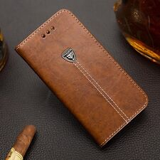 Luxury Flip Cover Stand Card Wallet PU Leather Case For Various Mobile Phones