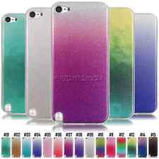 Fashion Glitter Gel TPU Shell Rubber Soft Back Case Cover For Apple iPod Touch 6