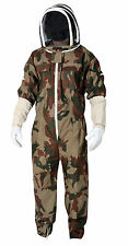 Camo Beekeeping Suit Protective Beekeeper Veil Pest Control Bee Gloves Free