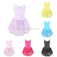 Girls Kids Ballet Dance Tutu Dress Skirt Gymnastics Elastic Leotard Dancewear