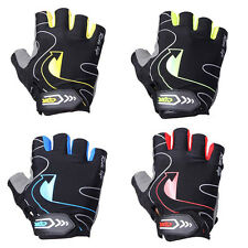 New Cycling Outdoor Sport Bike Shockproof Bicycle Ride Gloves Half Finger Glove