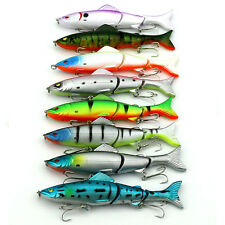 Fishing Lures Minnow Spinner Bass Baits Crankbait Assorted TackleS Hook Lot 8PCS