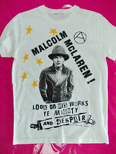 Malcolm McLaren punk rock t-shirt Sex Pistols and seditionaries manager 1977