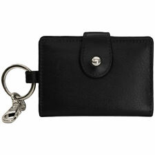New Womens Leather RFID Card and ID Holder Key Chain Fob