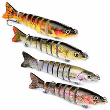 Lot 4pcs Fishing Lures Bait Swimbait Bass Crankbaits Hooks Tackles Poppers Lure