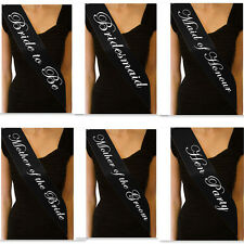 Hen Night Accessories Sash Bride Party Sashes Girls Night Out Wedding Maid Black
