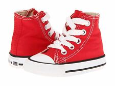 Unisex Toddler Converse 7J232 Chuck Taylor All Star Hi Top 100% Athletic Red