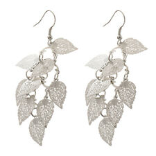 Fashion Multilayer Hollow Leaves Dangle Drop Earrings Ear Hook Charms Jewelry