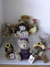 Mixed Lot of 13 Teddy Bears Bearington Boyds Cottage Collectibles plus