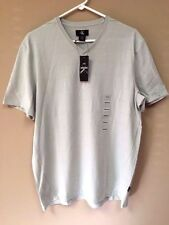 Calvin Klein CK Mens Short Sleeve V-Neck T-Shirt 100% Cotton Storm Gray - Medium
