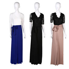 CEB WOMENS LONG LACE DRESS FORMAL BALL COCKTAIL PROM EVENING PARTY DRESS UK AG