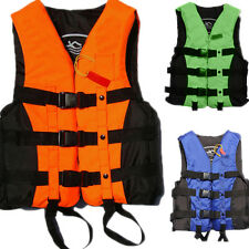 Polyester Adult Life Jacket Universal Swimming Boating Ski Vest+Whistle New FM