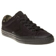 New Mens Converse Black Star Player Ox Canvas Trainers Plimsolls Lace Up