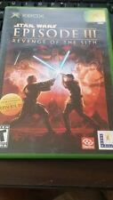 Star Wars Episode III Revenge of The Sith XBOX Game Complete Case Booklet Game