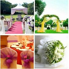 5M*1.35M Table Chair Swags Sheer Organza Fabric Wedding Party Decoration Bouquet