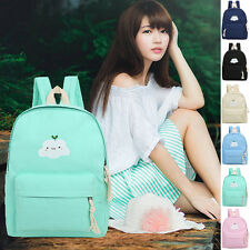 Womens Men Backpack School Shoulder Travel Rucksack Canvas Book Bag New