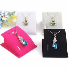 New Women Jewelry Necklace Pendant Chain Drop Display Holder Stand Velvet Gift