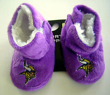 Minnesota Vikings Baby Infant Child Plush Faux Fur Boot Slippers Booties Shoes