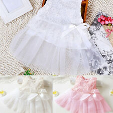 Baby Girls' Floral Lace Bowknot Dress Party Princess Tutu Tulle Dress Eyeful