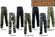 Game Mens Army Military Camo Camoulflag Cargo Work Trousers / Pants