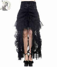 BANNED VICTORIAN LACE steampunk GOTHIC goth LONG SKIRT BLACK