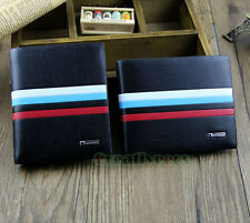 Men Fashion Striped Bifold Wallet Pockets Credit/ID Card Clutch Coin Purse