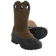 Itasca ADAK Mens Brown Leather Pull On 200g Insulated Warm Winter Boots