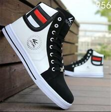 Mens Round Toe High Top Sneakers Casual Lace Up Skateboard Shoes Loafers Safe