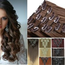 Long Remy Clip In Hair Extensions Straight Curly 18 Clips On Hair Extensions T8Z