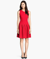 H&M-Super Red Holiday Valentine Sleeveless Pleated Dress XS,S,M Limited Edition