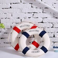 Red Blue Mediterranean Nautical Decor Boat Ring Life Buoy Preserver New