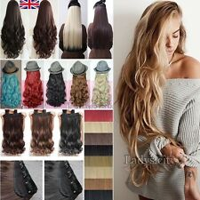 1Pcs 100% Thick Clip In Hair Extensions Long Straight Curly Real Human Like Ted