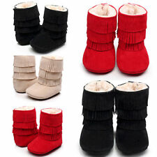 Well-fitting Boy Girls Soft Soled Fringe Tassel Boots 0-18 months Baby Shoes QGP