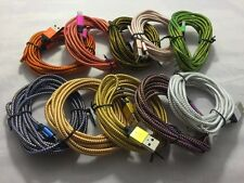 2x 3M 10 ft extra long braided Micro USB cable data Charging cord For HTC Desire