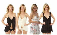 Ladies Babydoll Slip Chemise Nighty Black Size 6 8 10 12 14 16 18 20 22 NEW