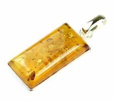 Lovely 925 Sterling Silver & Baltic Amber Designer Charm CHA004