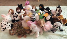 Webkinz Lot of 35 Plush Including 12 Retired Webkinz. No Codes. Collectible!