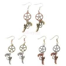 Retro Gothic Steampunk Women Earring Hook Earring Gun Dangle Accesssory