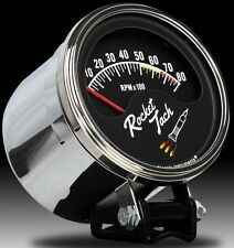 classic instruments rocket tach with chrome tach cup rt80slf 3 3/8