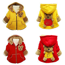 Baby Girls Boys kids Clothes Jacket Winter Warm Coat Toddlers Hoodies Coat C1