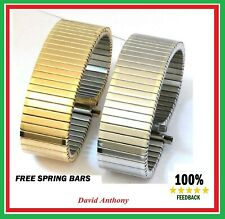 20mm to 25mm GOLD OR  STAINLESS STEEL FIXO FLEX STYLE EXPANDING WATCH BRACELET