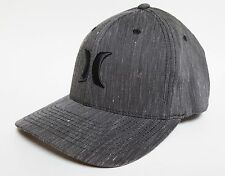 HURLEY SOUTH SIDE Hat FLEXFIT Grey Black ($30) NEW Cap Skate CLASSIC ONE ONLY