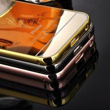 Luxury Aluminum Ultra-thin Mirror Case Cover for iPhone 6 6S W/Stand Holder